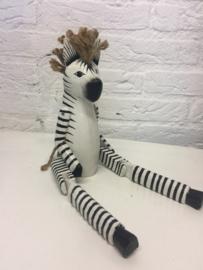 Houten zebra bungelbenen