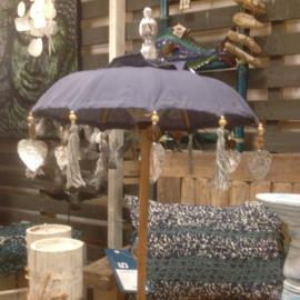 Bali parasolletje tafelmodel in zwart of blauw/turqouise