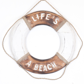 Boei_natural/white 50cm -BEACH HOUSE/LIFE'S A BEACH