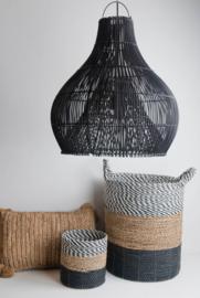 Hanglamp Bandung 50 cm diameter Zwart Rotan
