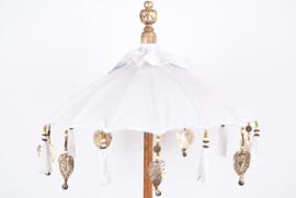 Bali parasolletje tafelmodel wit