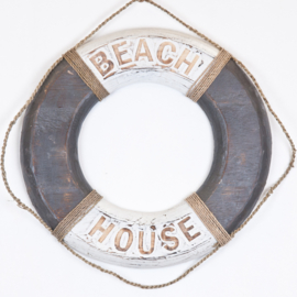 Boei_grey/white 50cm_BEACH HOUSE/LIFE'S A BEACH/WELCOME ON BOARD