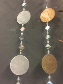Capiz schelpen guirlande met spiegeltjes
