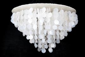 Capiz schelpen hanglamp XL 80x50 wit
