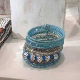 Kraaltjes armband  in diverse kleuren