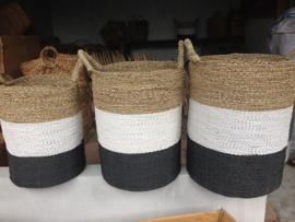 Mand zwart/wit/neutraal waterhyacint