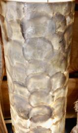 Staande schelpenlamp capiz_ natural wit cilinder _50 cm