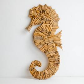 Driftwood zeepaard voor aan de wand
