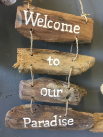 Driftwood text hangers - te leuk en goed kado!
