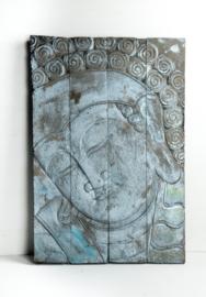 Houten wandpaneel Buddha