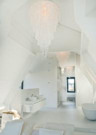 Capiz schelpen hanglampen in slaapkamer, badkamer en walk-in kast