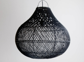 Hanglamp Tegallalang  50 cm diameter  Zwart Rotan