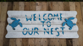 Sign_Welcome to our nest