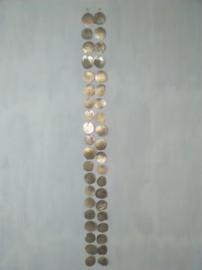Capiz schelpen guirlande natural big goud of wit