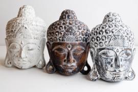 Houten handgesneden buddha masker