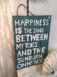 Sign_Happiness is the sand...