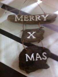driftwood teksthanger Merry X Mas