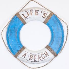 Boei_blue/white 50cm - BEACH HOUSE/LIFE'S A BEACH