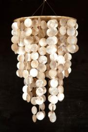 NIEUW: Capiz schelpen hanglamp Medium 40x60 goud