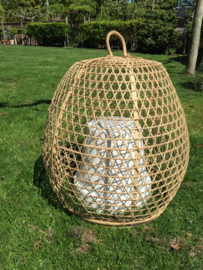 Chicken basket XL natural bamboe