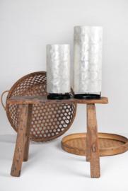 Staande schelpenlamp capiz_ natural wit cilinder _30 cm