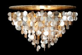 Capiz schelpen hanglamp XL 80x50 goud