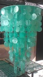 Capiz schelpen hanglamp Medium 40x60 zeegroen