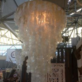 Capiz schelpen hanglamp XXL 80x120 wit