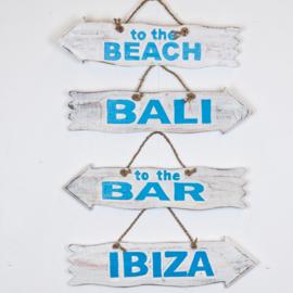 Pijl_white/blue_Bali/Ibiza/to the bar/to the beach