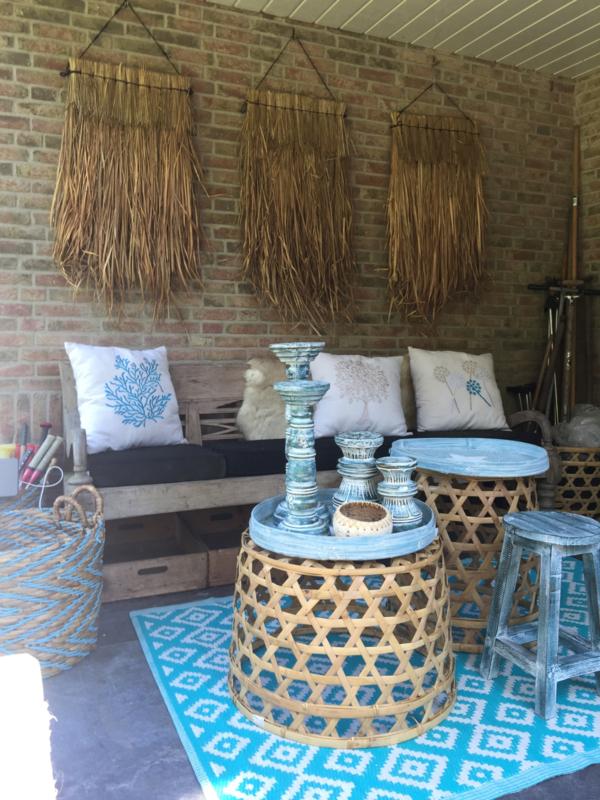 Decoratie Mat Alang Alang Ook Leuk Voor Je Terras Of Overkapping Wanddecoratie En Spiegels Bali Styling Ibiza Living