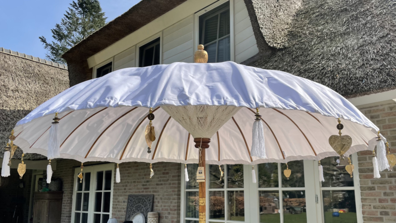 Bali Parasol 2 meter all weather - wit