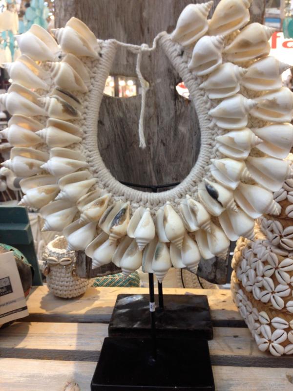 Papua ketting_schelp wit groot