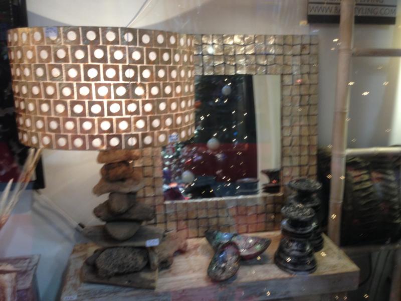 Capiz schelpen cilinder hanglamp /lampenkap 40x40x24  goud