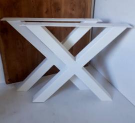 Stalen Eettafel X-poot set van 2