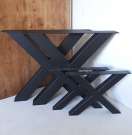 Stalen Salontafel X-poot set van 2