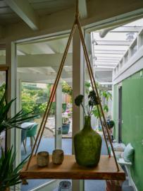Massief Eiken Boomstam plank aan touw