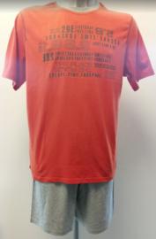 Schiesser - Pyjama - Oranje/Grijs