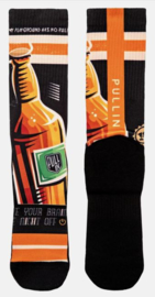 Pullin: Beer - Sokken - Bruin/Zwart