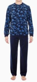 HOM: Bloom - Pyjama Velours - Donker Blauw