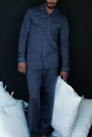 Manned - Pyjama (doorknoop)  - Blauw