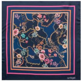 Antigel: Folie Foulard - Sjaal - Blauw/Multi