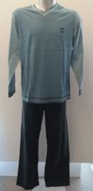 Schiesser - Pyjama - Blauw/Grijs