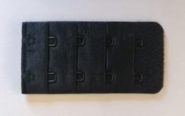 BH Verlengstuk - Twee haakjes (38mm) - Zwart