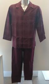 Schiesser - Pyjama (doorknoop) - Bordeau