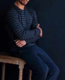 Manned: Marine - Pyjama - Blauw