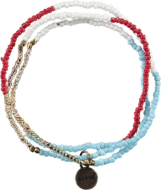 Barts: Ding - Ketting/Armband - Rood/Blauw