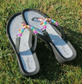 Sibi's : Linea Scarpa - Teenslippers - Zwart/Multi