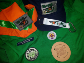Installatiepakket: das, dasring, naambandje, cap, speltak insigne, installatie insigne