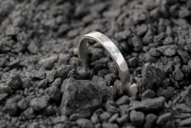 Sterling Silver 3mm hammered band ring