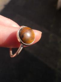 Handgemaakte Tijgeroog ring